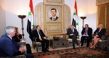 برلماني بلجيكي خلال لقائه اللحام: الرئيس الأسد حليف لأنه يحارب الإرهاب Dfdsfs-20150324-181213